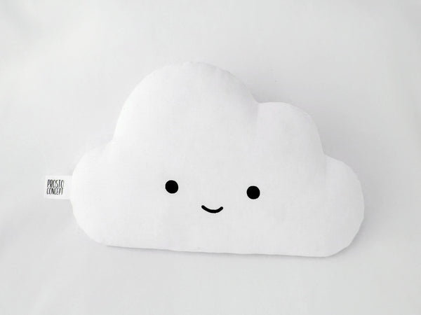 Smiling cloud cushion with blue cheeks, cloud shaped pillow, baby boy nursery decor, kinderzimmer decor jungen, kissen wolke, coussin enfant nuage