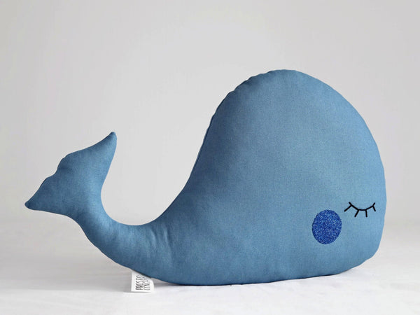 Petrol Blue Whale Pillow whale decor nautical pillow petrol blue pillow stuffed whale nursery decor baby pillow kids pillow baby boy nursery