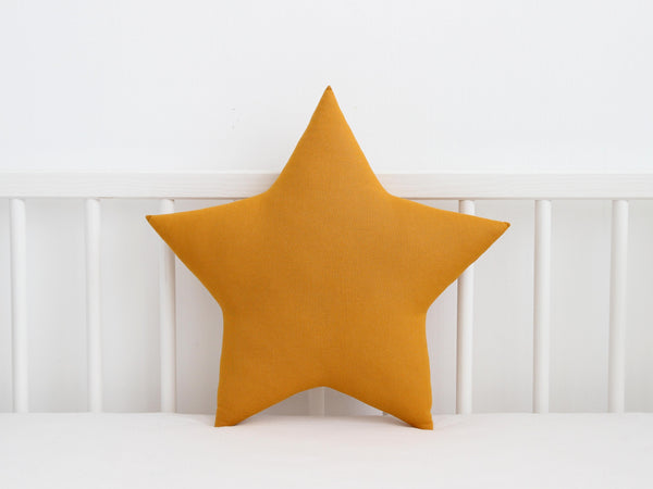 mustard star shaped pillow, star plush toy, mustard cloud cushion, children cushion, baby pillow, star nursery decor