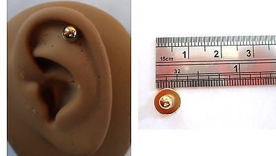 Gold Surgical Steel Plated Fake Magnetic Post Ear Helix Tragus Cartilage Ring - I Love My Piercings!