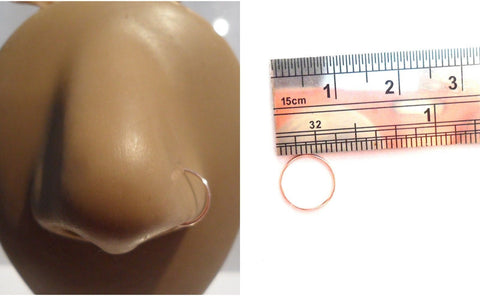 10k Rose Gold NOT PLATED Seamless Nose Hoop Ring Stud Jewelry 20 gauge 20g - I Love My Piercings!