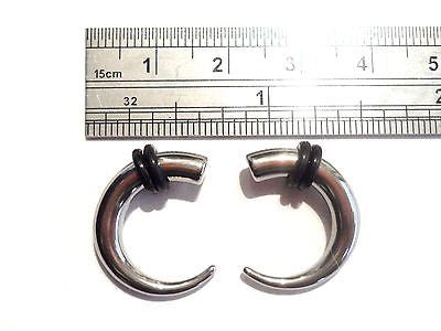 Pair 2 pieces Stainless Surgical Steel Claw Curved Tapers Plugs 6 gauge 6g - I Love My Piercings!