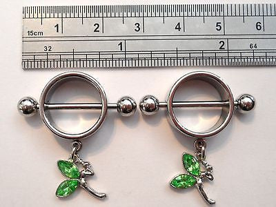 TINKERBELL Fairy Barbells Nipple Rings 14 gauge 14g - I Love My Piercings!
