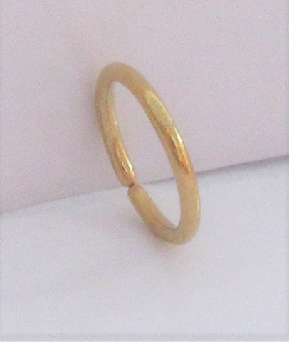 Small Little Tiny Gold Titanium Plated Seamless Hoop Barbell 20 gauge 20g