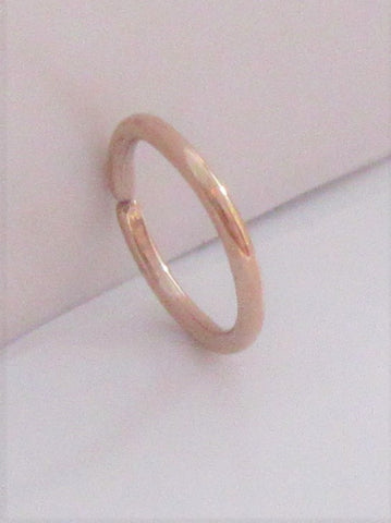 Small Little Tiny Rose Gold Titanium Plated Seamless Hoop Barbell 20 gauge 20g