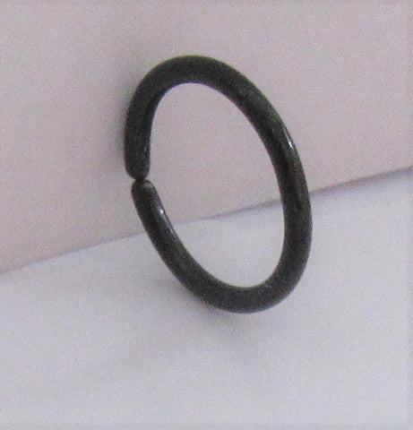 Small Little Tiny Black Titanium Plated Seamless Hoop Barbell 20 gauge 20g