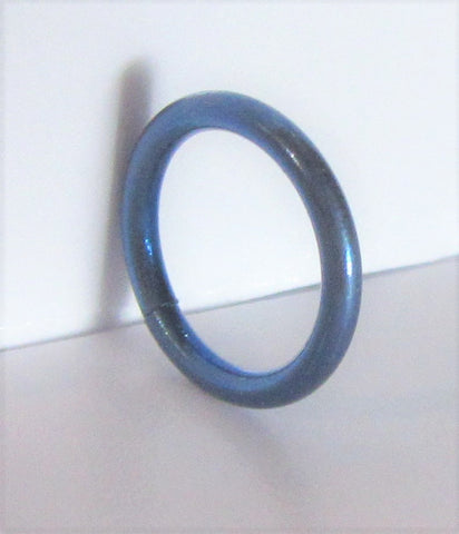 Dark Blue Niobium Seamless Continuous Hoop Ring 16 gauge 16g 8 mm diameter