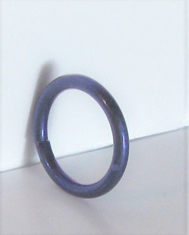 Dark Purple Niobium Seamless Continuous Hoop Ring 16 gauge 16g 8 mm diameter