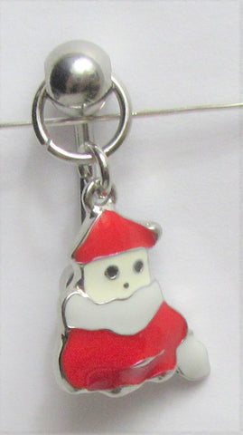 Surgical Steel Christmas Santa Snowman Curved Barbell VCH Clit Clitoral Hood Ring 14 gauge 14g