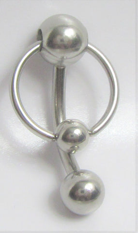 Stainless Surgical Steel Hoop Dangle VCH Vertical Clitoral Clit Hood Ring 14g