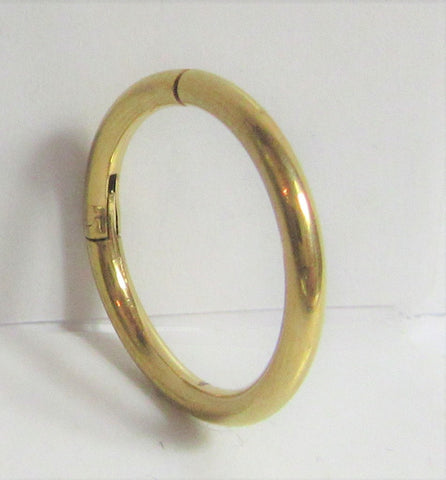 18K Gold Plated 12 mm Hoop 14 gauge 14g Hinged