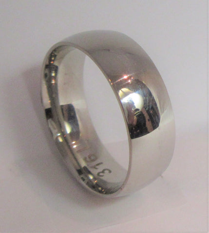 Size 13 Stainless Surgical Steel Ring / 8mm Width