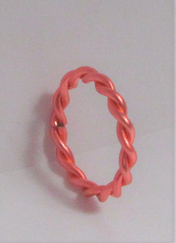 Stainless Surgical Steel Coral Braided Seamless Hoop 16 gauge 16g 8 mm Diameter