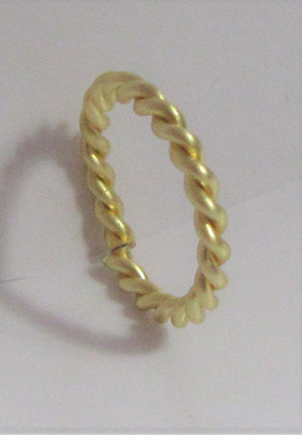 Stainless Surgical Steel Gold Braided Seamless Hoop 16 gauge 16g 8 mm Diameter