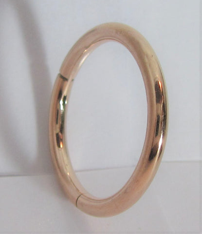 Rose Gold Titanium Hinged Seamless Continuous Hoop 14 gauge 14g 12mm Diameter