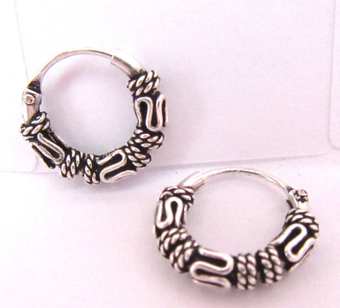 Sterling Silver Small Celtic Knot Hoop Earrings - I Love My Piercings!