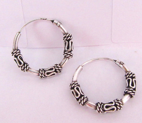 Sterling Silver Celtic Hoop Earrings - I Love My Piercings!