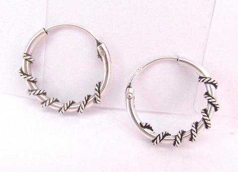 Sterling Silver Wire Wrap Hoop Earrings - I Love My Piercings!