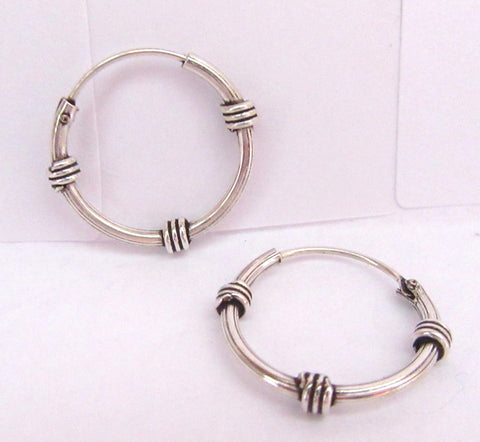 Sterling Silver Wrapped Hoop Earrings - I Love My Piercings!