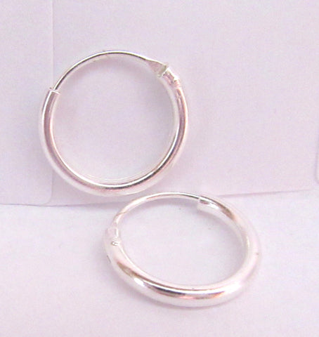 Sterling Silver Hoop Earrings - I Love My Piercings!