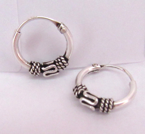 Sterling Silver Small Single Celtic Knot Hoop Earrings - I Love My Piercings!