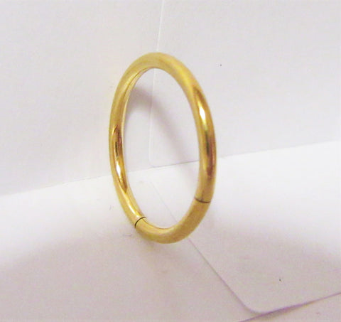 Gold Titanium Seamless Conch Hoop Ring Loose Fit 16 gauge 16g 12 mm Diameter
