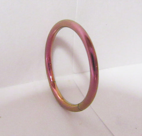 Purple Titanium Seamless Conch Hoop Ring Loose Fit 16 gauge 16g 12 mm Diameter