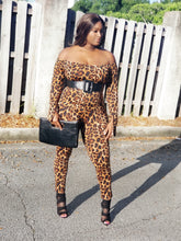 "Load image into Gallery viewer, ""Wild At Heart"" bell sleeve jumpsuit- plus size"