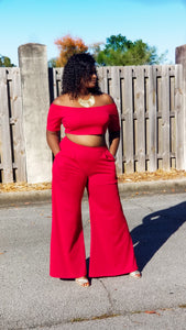 """Ring My Bell"" wide leg set- plus size"