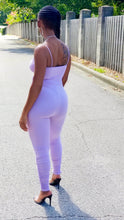 "Load image into Gallery viewer, ""Missy"" lavender jumpsuit"