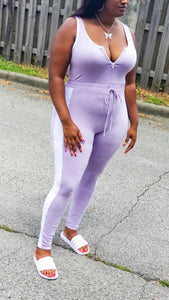 """Lady Lush"" lavender jumpsuit- plus size"