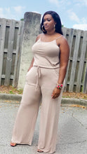 "Load image into Gallery viewer, ""Ladies Day Out"" wide leg jumpsuit- plus size"