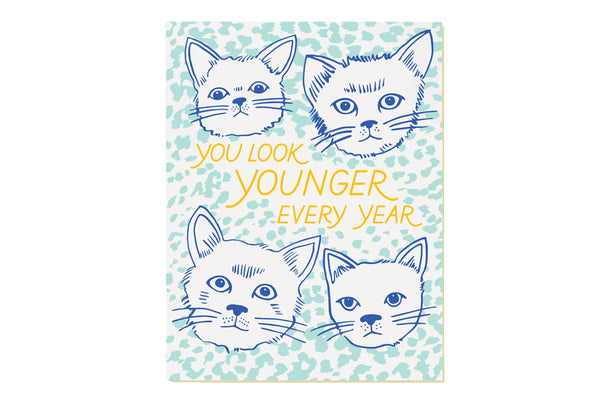 Younger Cats Birthday Card