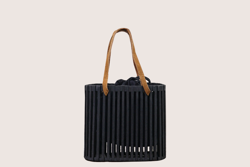 Serana Wood Slat Clutch