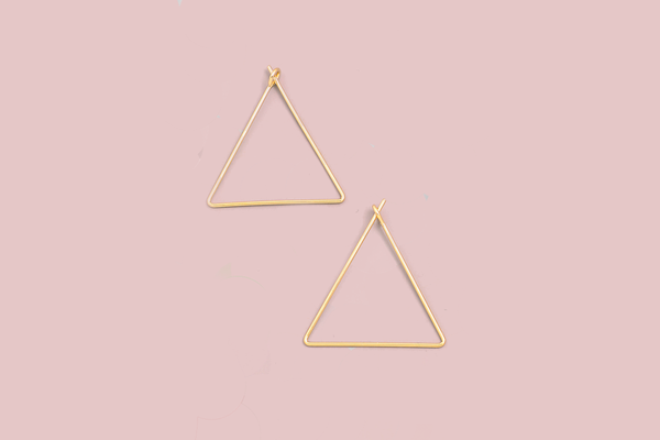 Whisper Triangle Earrings