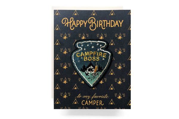 Campfire Boss Patch Birthday Card