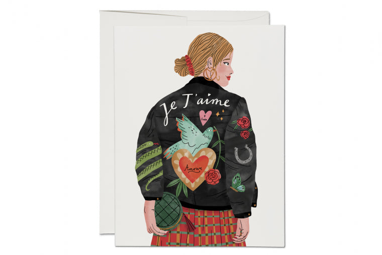 Je T'aime Jacket Card