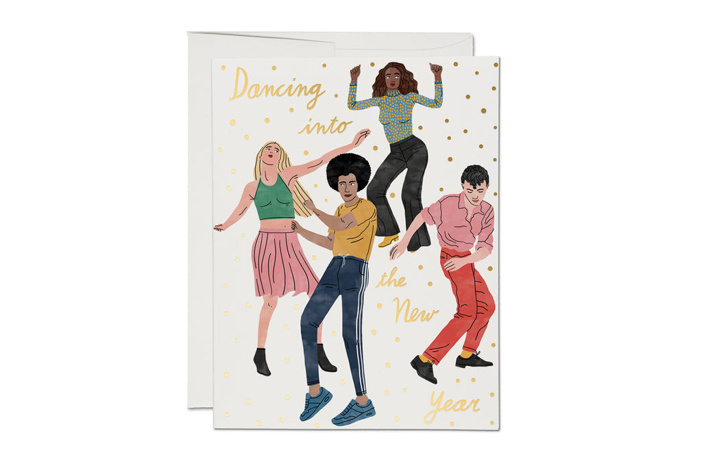Dancing into the New Year Holiday Card