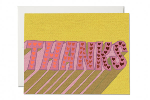 Hearts Thank You Card