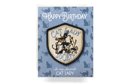 Cat Lady Patch Card