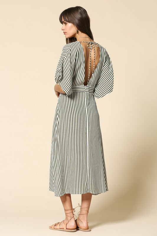 Tie Back Midi Dress