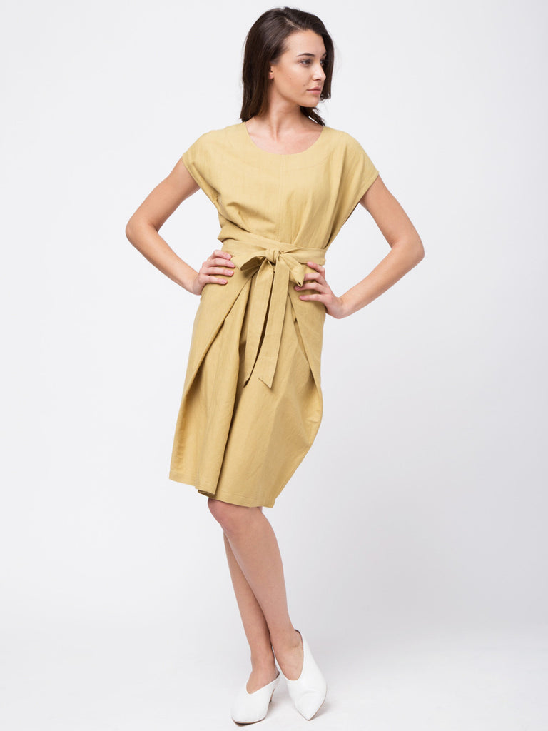 Drop Shoulder Linen Dress