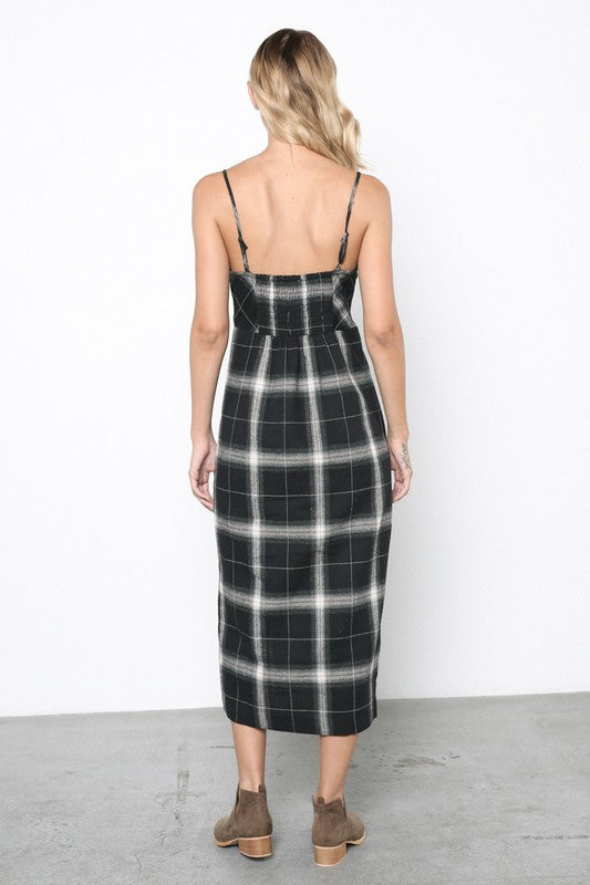 Julianna Plaid Midi Dress