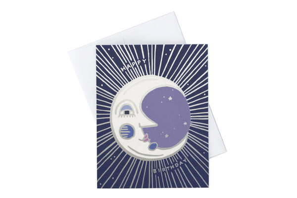 Moon Birthday Card