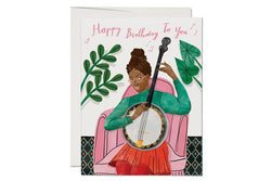 Banjo Birthday Card