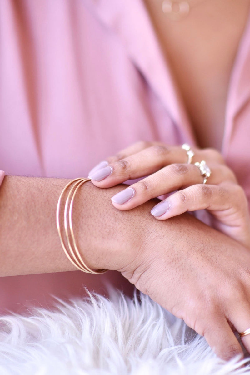 Thin Gold Bangle