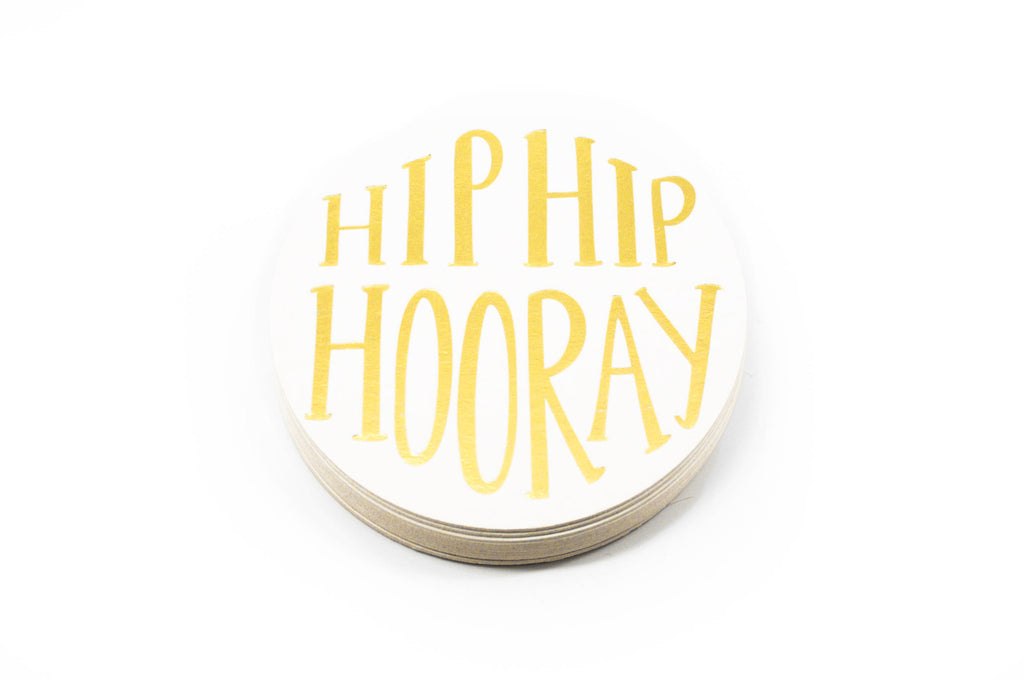 Hip Hip Hooray! Coasters Set of 12