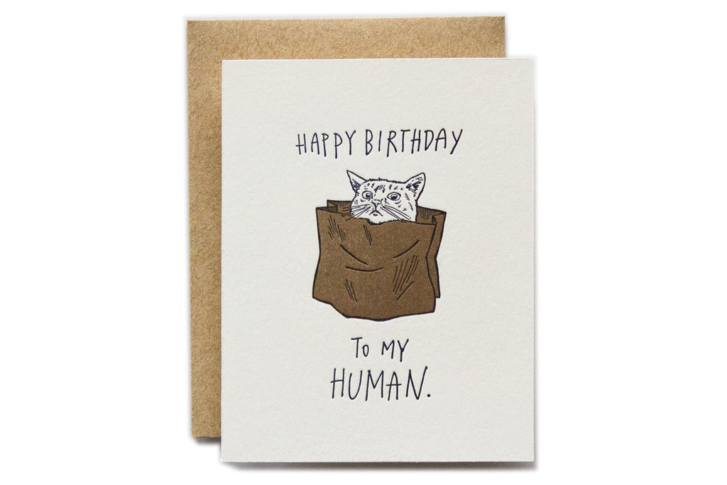 Happy Birthday to My Human Card