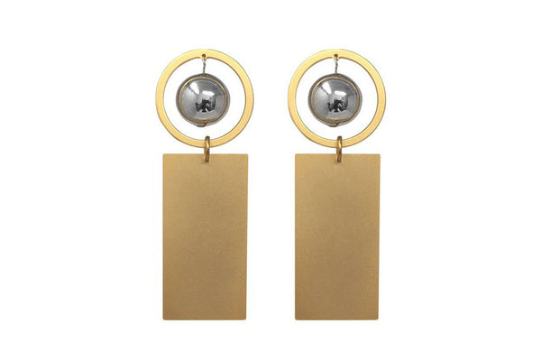 Full Circle Bar Earrings