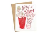 Bloody Birthday Card
